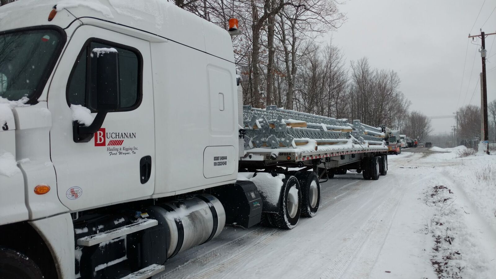 Buchanan Flatbed in Snow