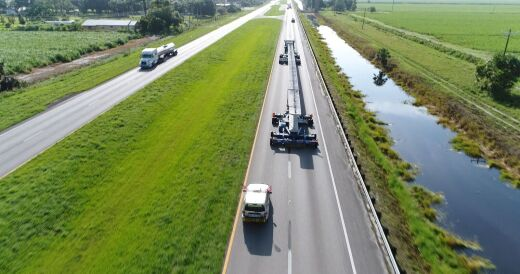 Buchanan Hauls 180 Foot Beams Across Florida